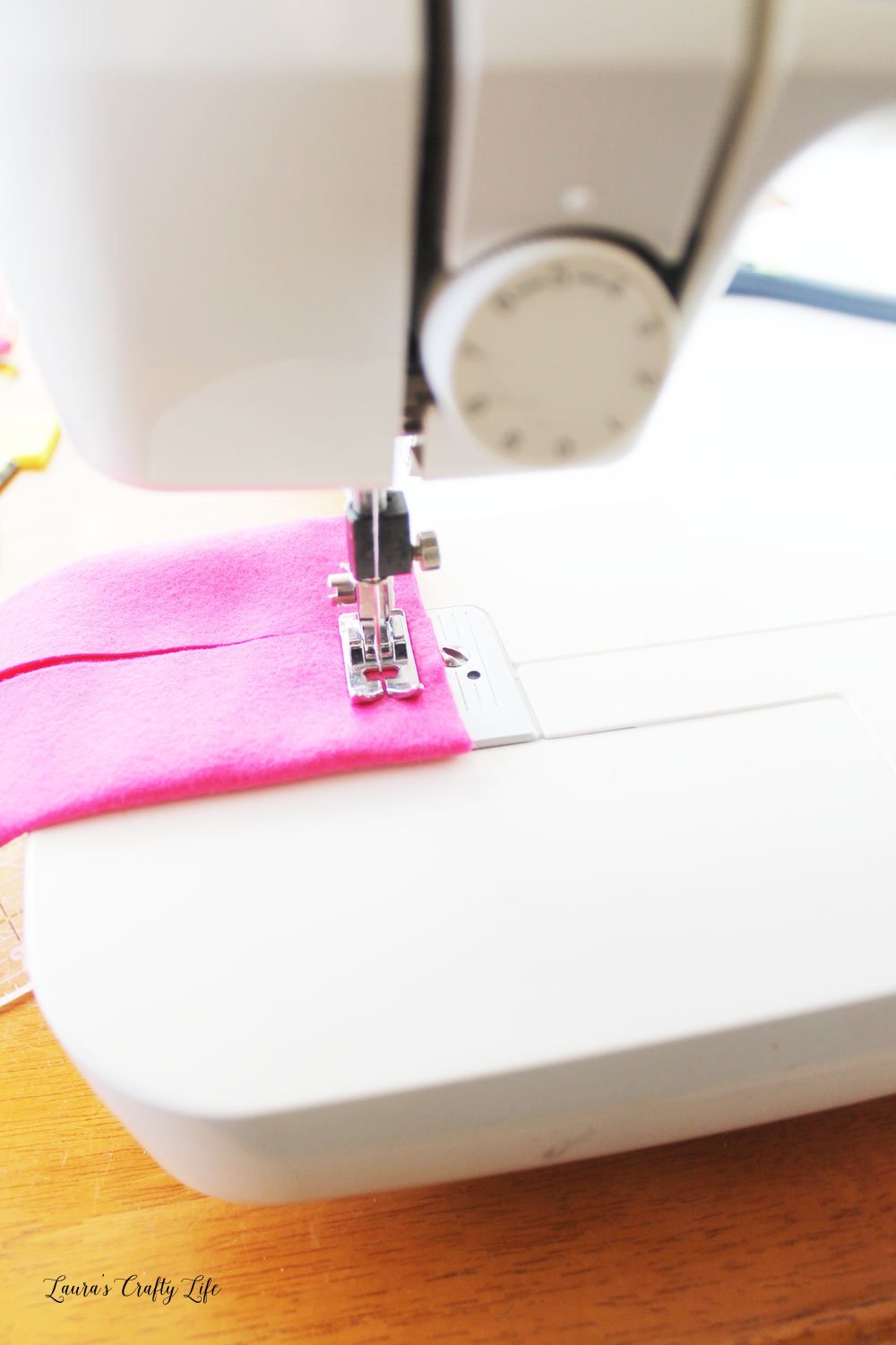 Sew sides of tissue case