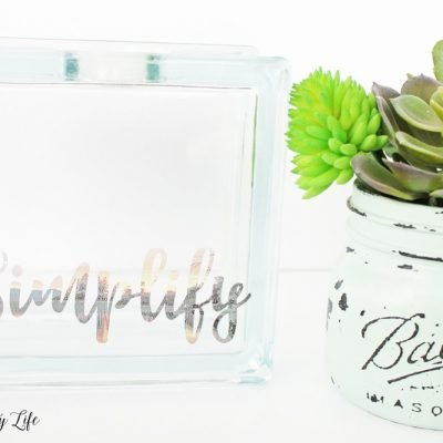 Simplify Inspirational Glass Photo Block - word of the year