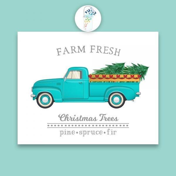 farm fresh christmas tree digital art