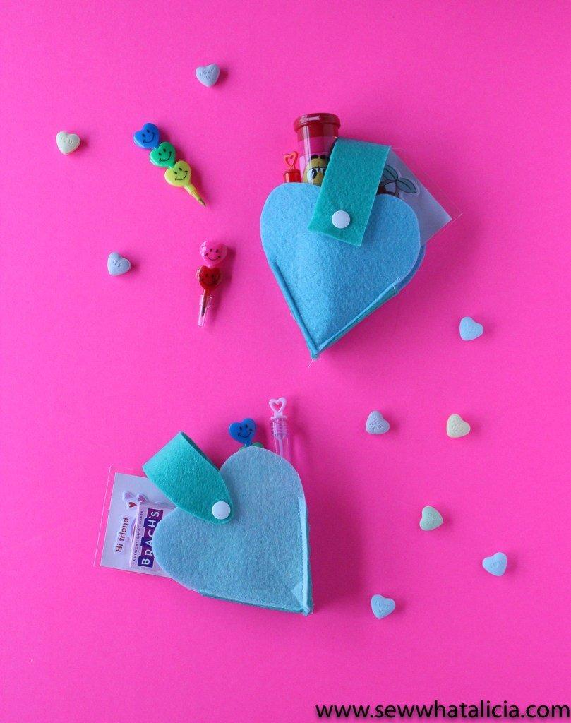 Felt Heart Candy Holders