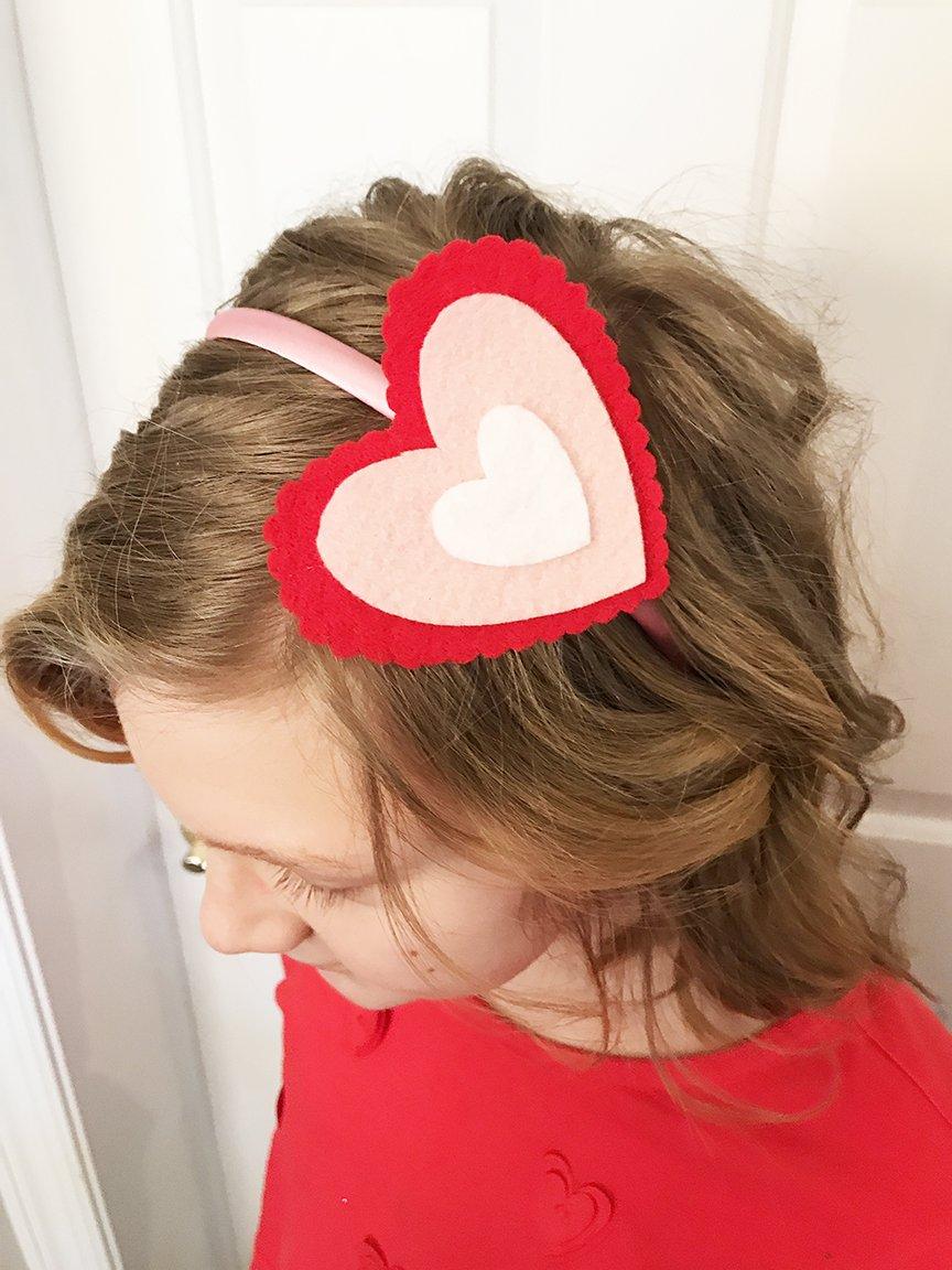 Valentine's Day Felt Hair Clip