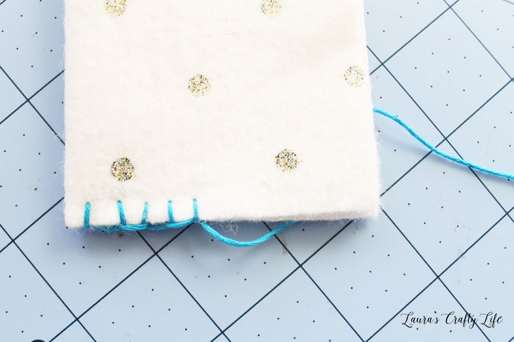 Blanket stitch on felt