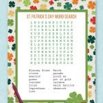 Free printable St. Patrick's Day word search - perfect for home or school activities