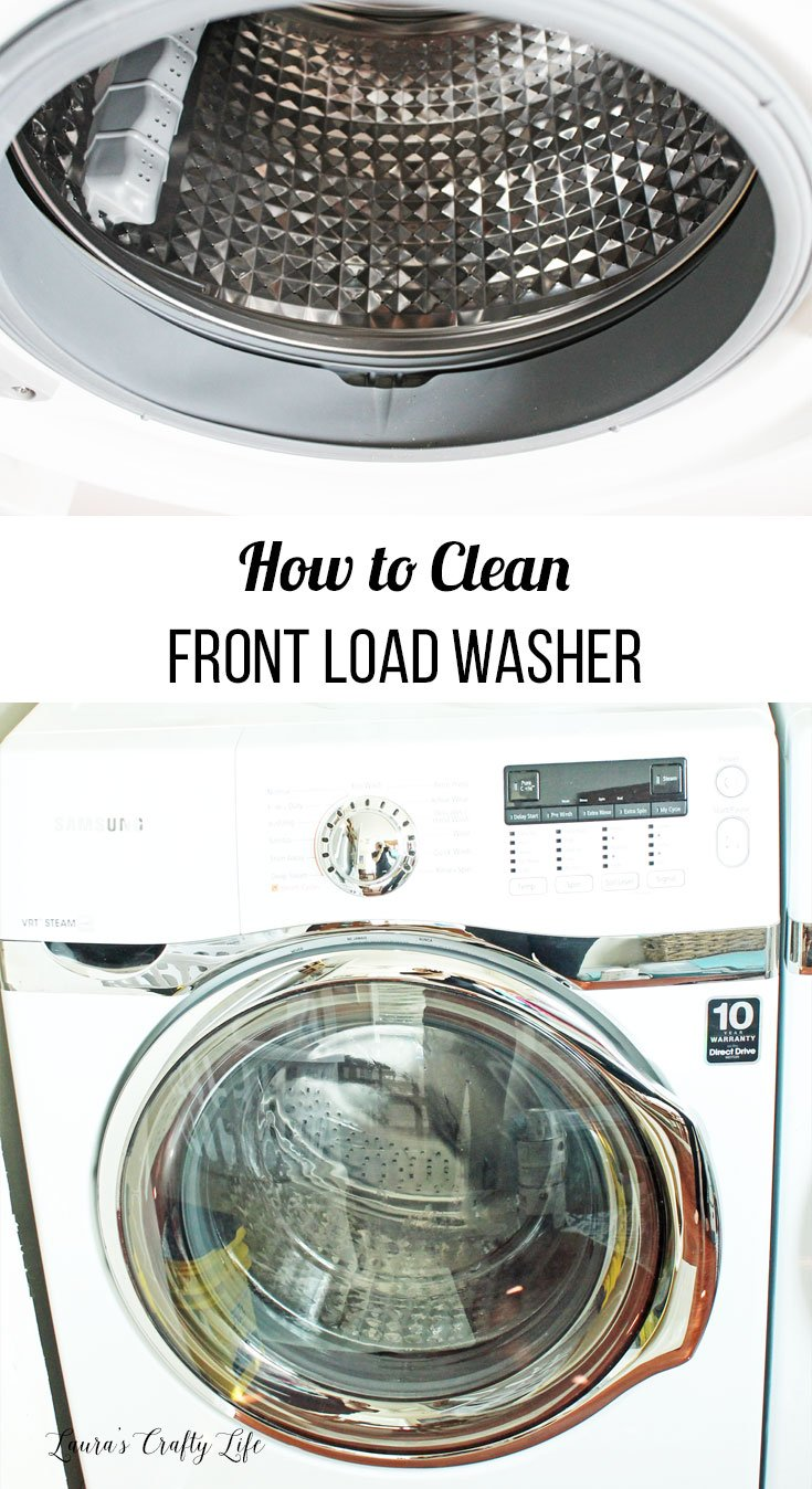 How to clean front load washer - step by step tutorial