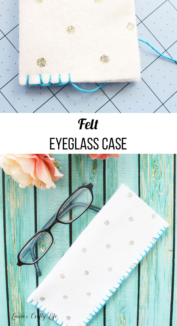 How to create a felt eyeglass case