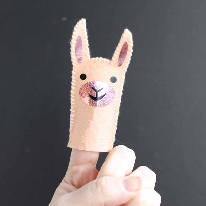 Smiling Llama Finger Puppet