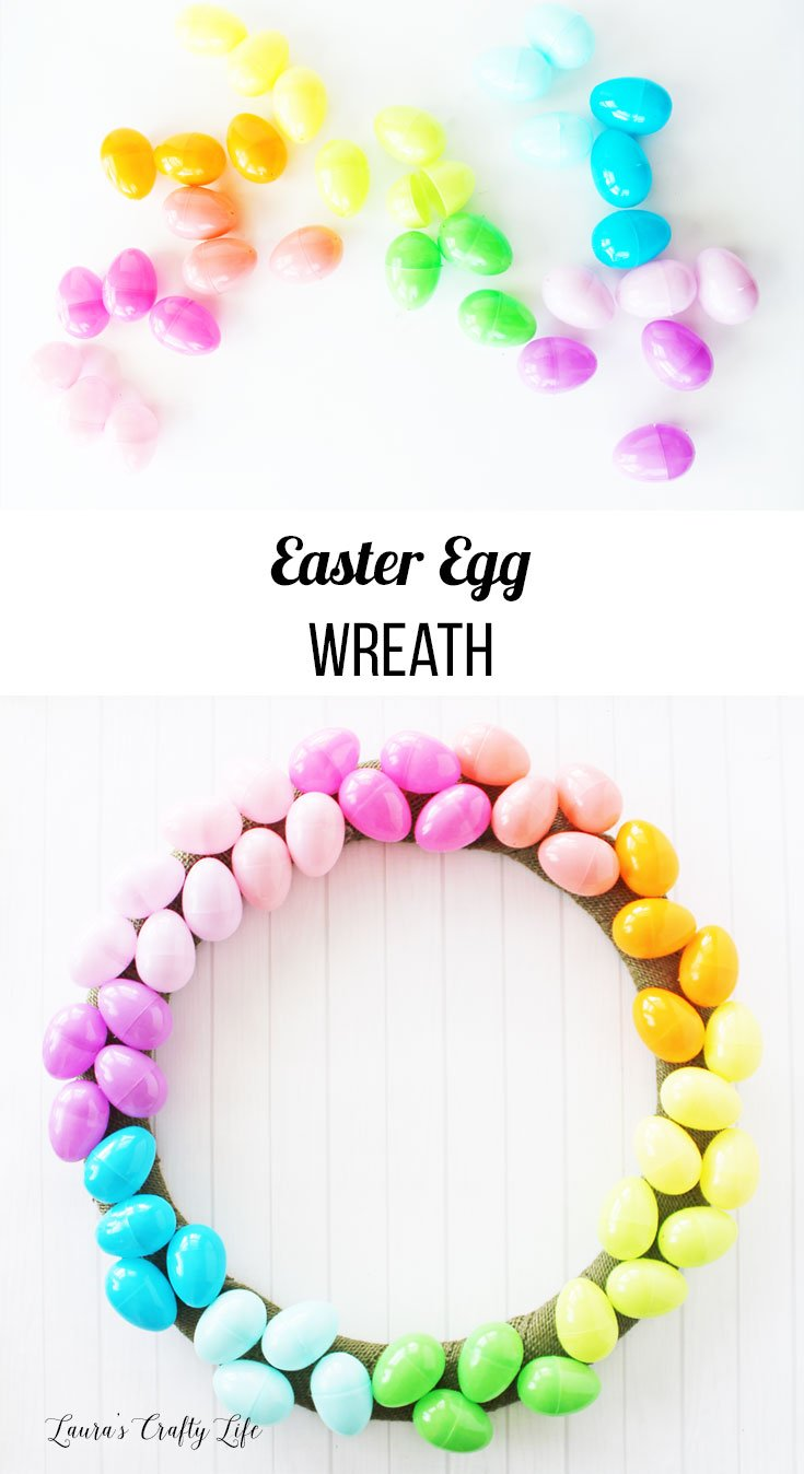 Learn how to make this colorful Easter egg wreath
