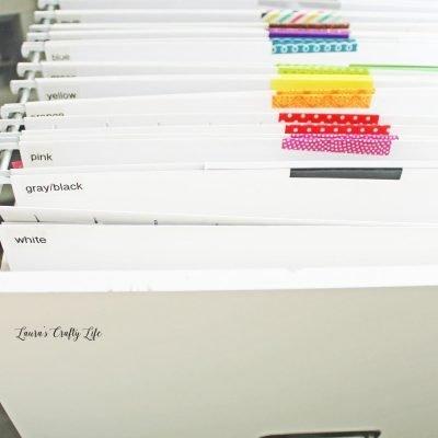 Paper scraps organization by color