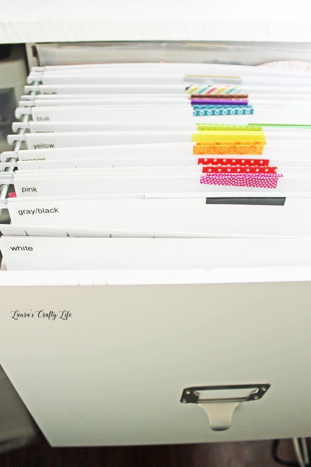 Paper scraps organization by color