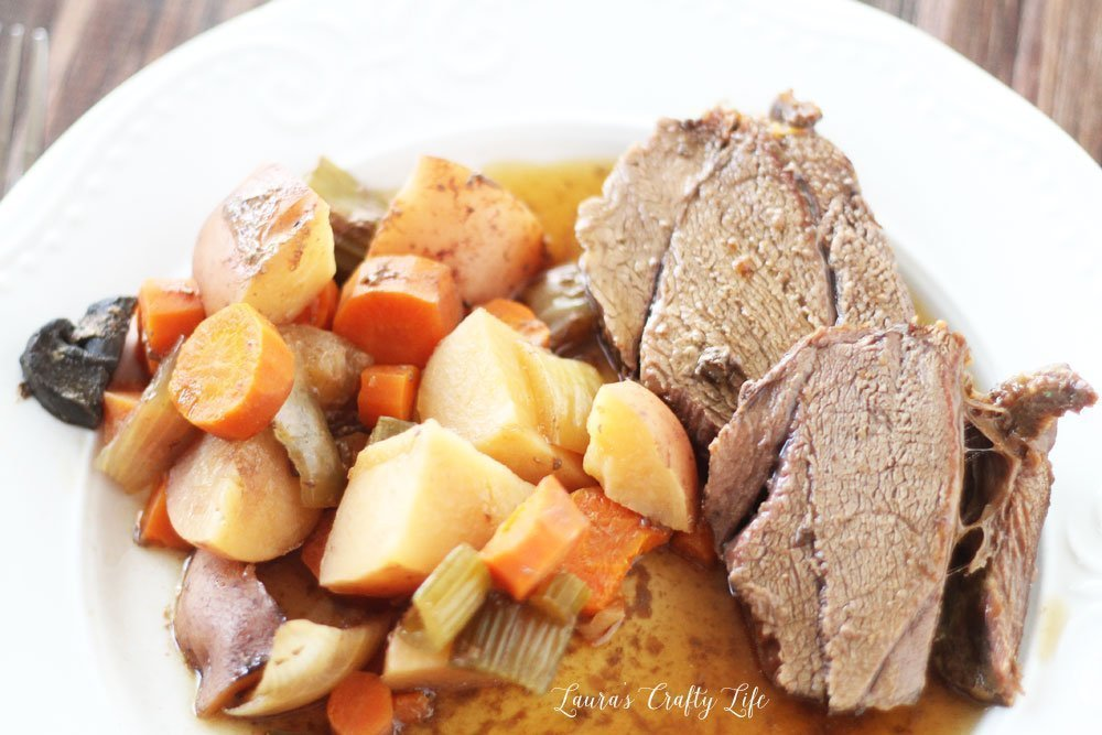 Crock-Pot deer roast with vegetables