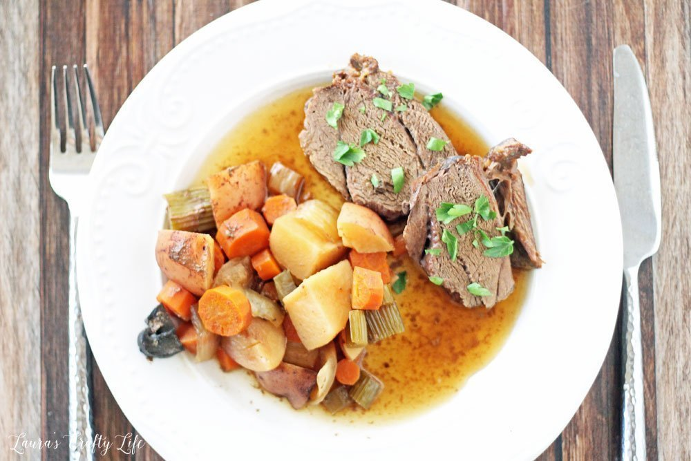 Crock-Pot venison roast with vegetables