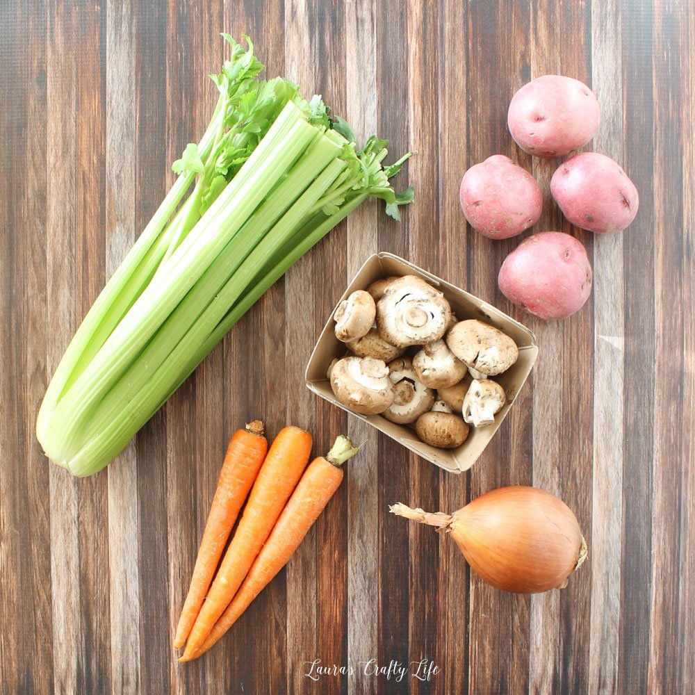 Vegetables for Crock-Pot venison roast