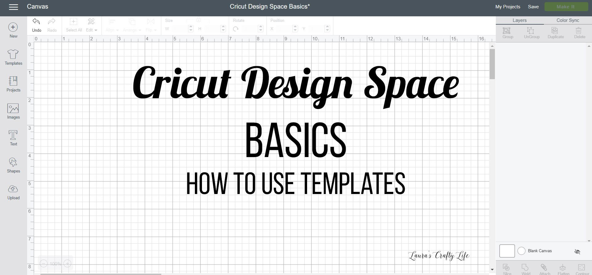 How To Use Templates In Cricut Design Space Lauras Crafty Life