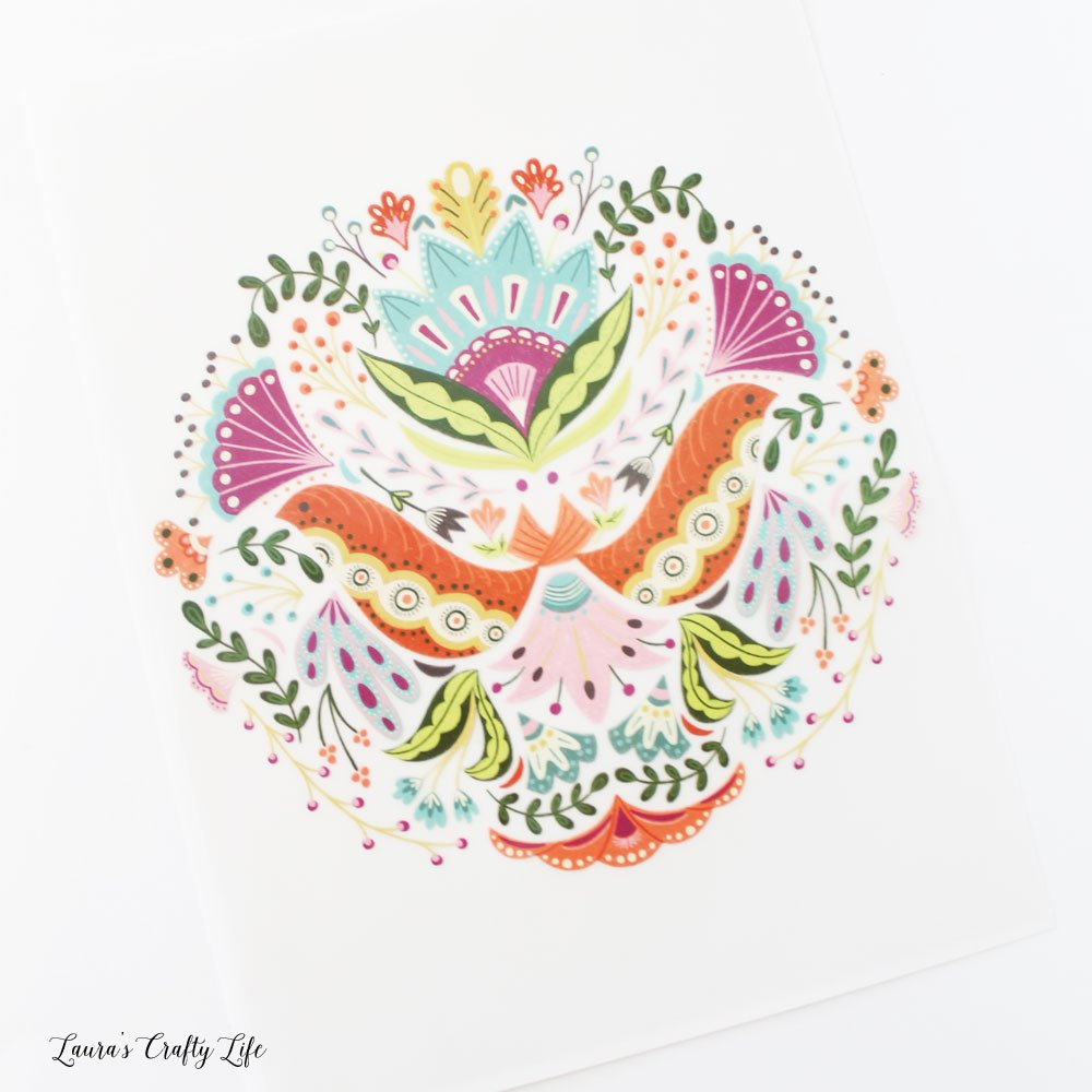 Cricut iron-on designs - floral mandala