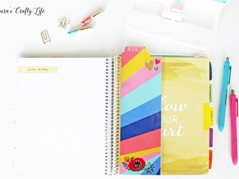 DIYI Snap-in planner dashboard for erin condren notebook