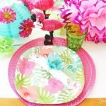 Dollar Tree summer tablescape place setting
