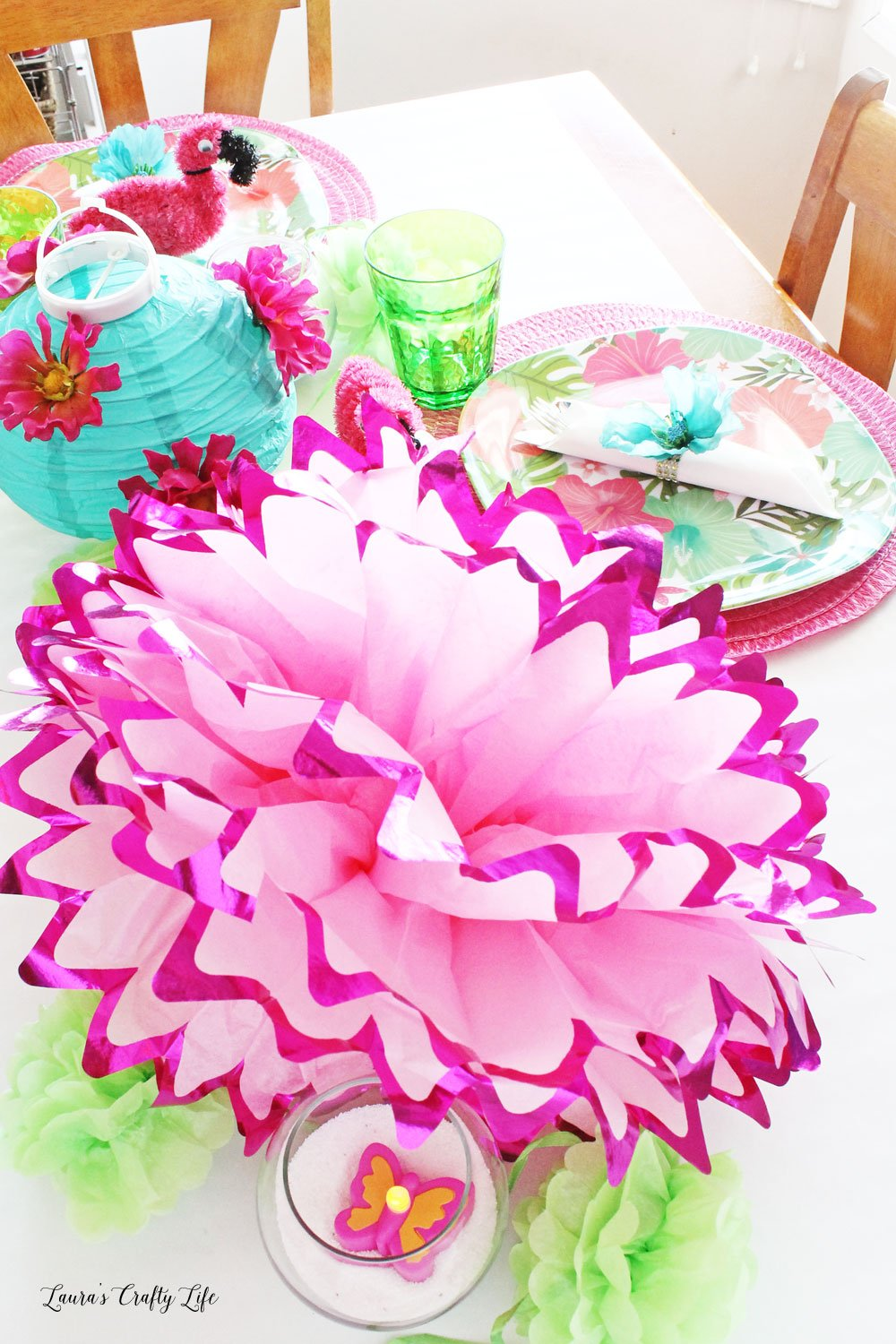 Dollar Tree summer tablescape