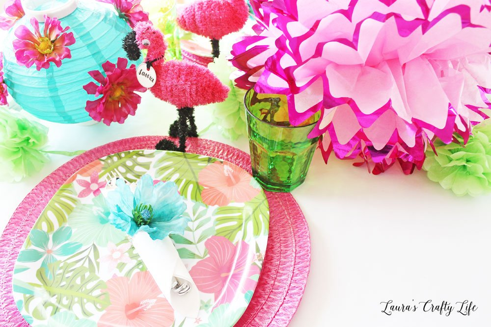 Pink floral summer party