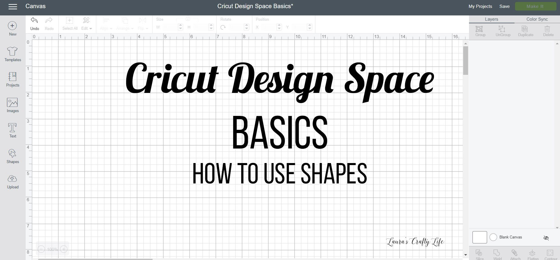 Cricut Design Space Basics - How to Use Shapes