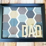 Hexagon Father's Day frame