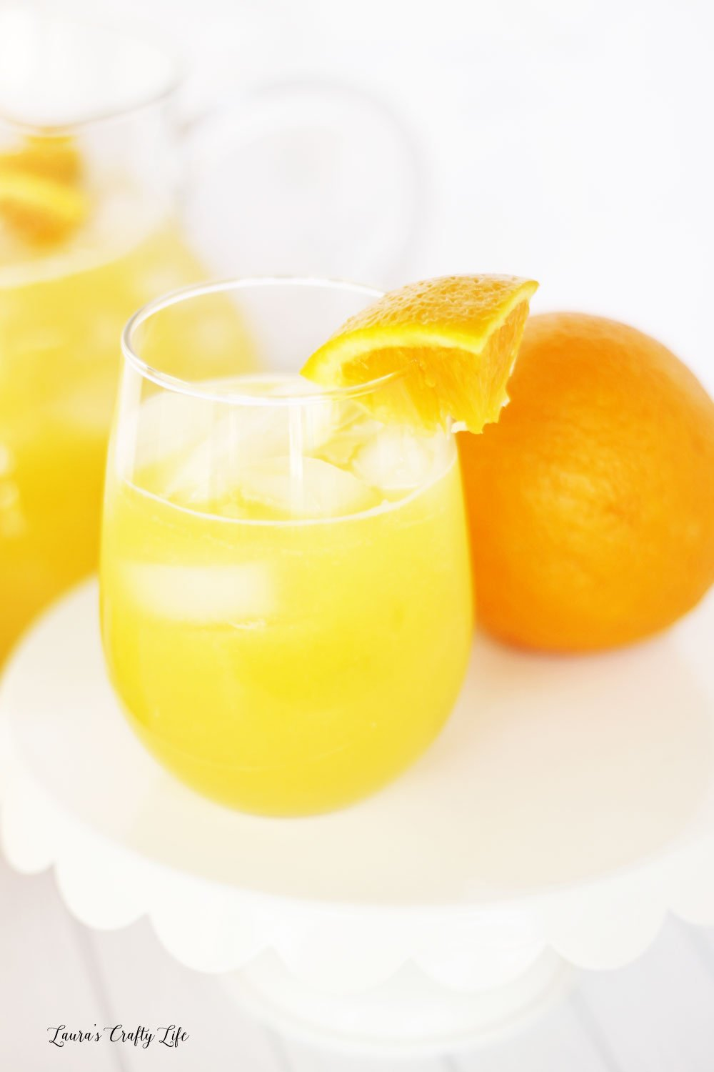 Non-alcholic brunch punch recipe - mimosa alternative