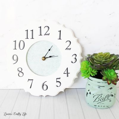 Wooden frame DIY clock