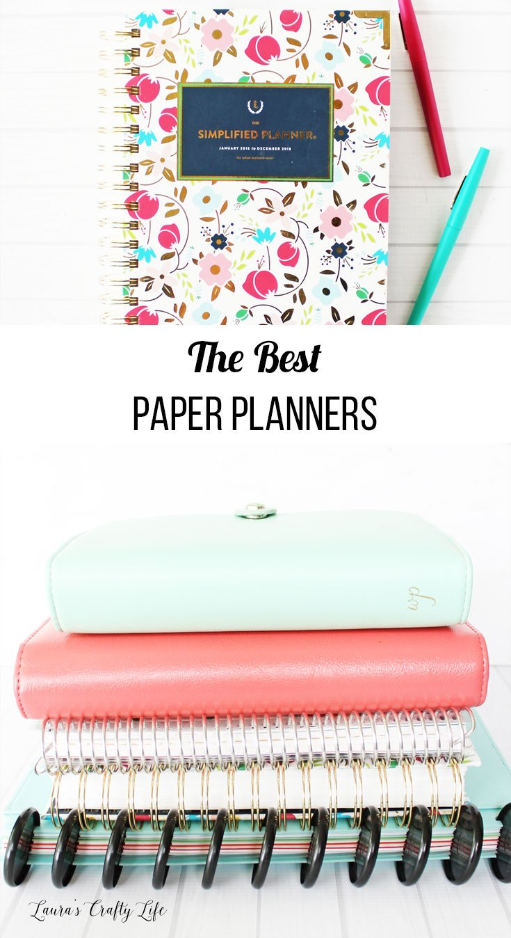 The Best Paper Planners for getting organized - Simplified, Erin Condren, Inkwell Press, Happy Planner, Webster's Pages