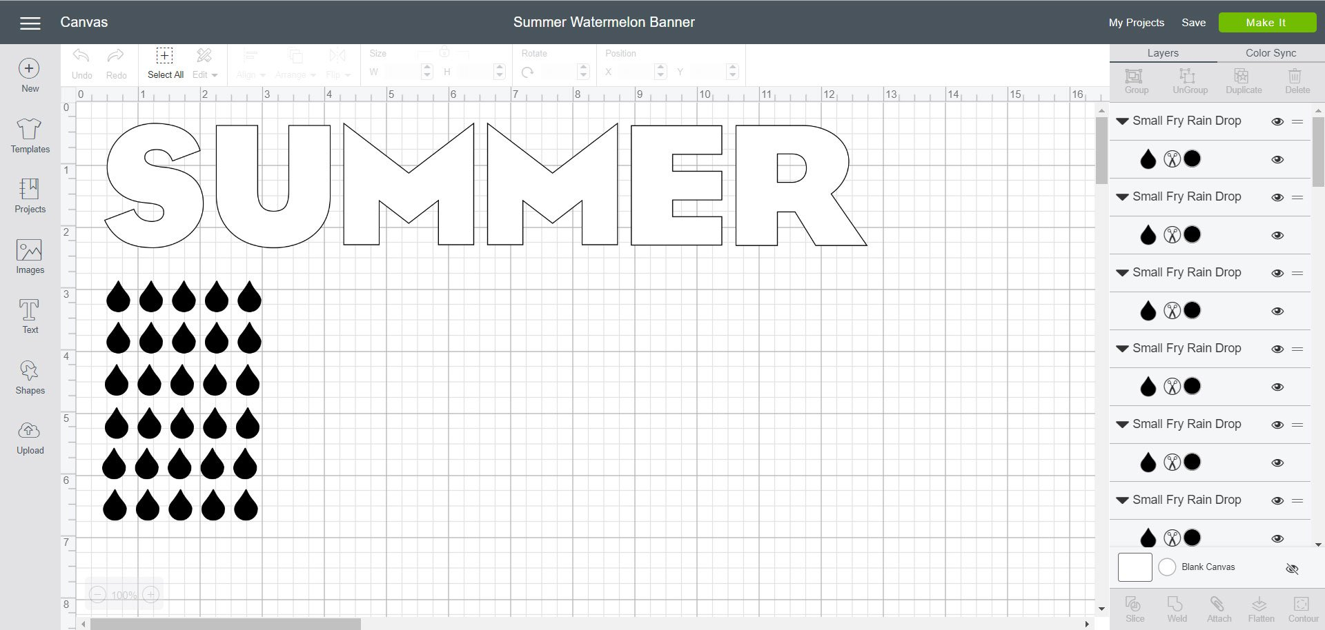 Cricut Design Space - Summer Watermelon Banner File
