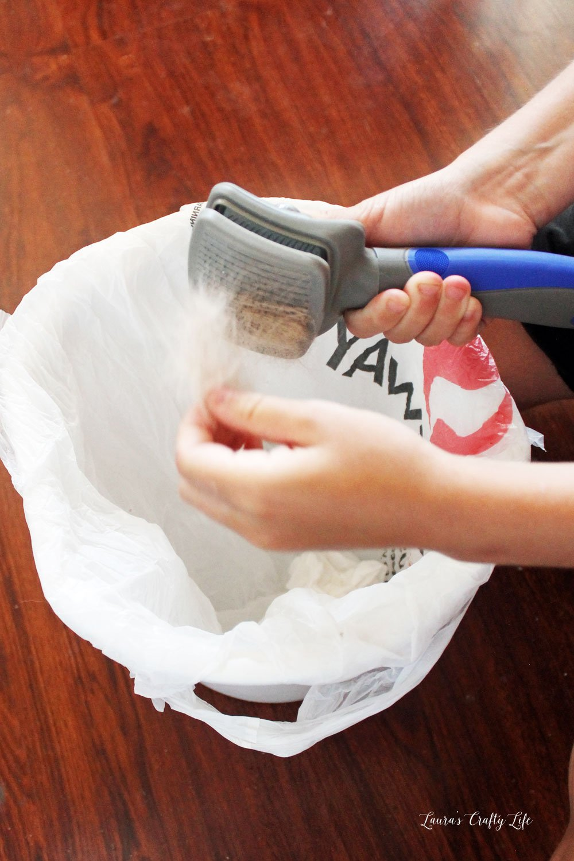 Easy to clean pet hair brush at Target