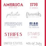 Patriotic Fonts. 10 of my favorite personal and commercial use patriotic fonts to use in your projects for Memorial Day, the 4th of July, and Labor Day.