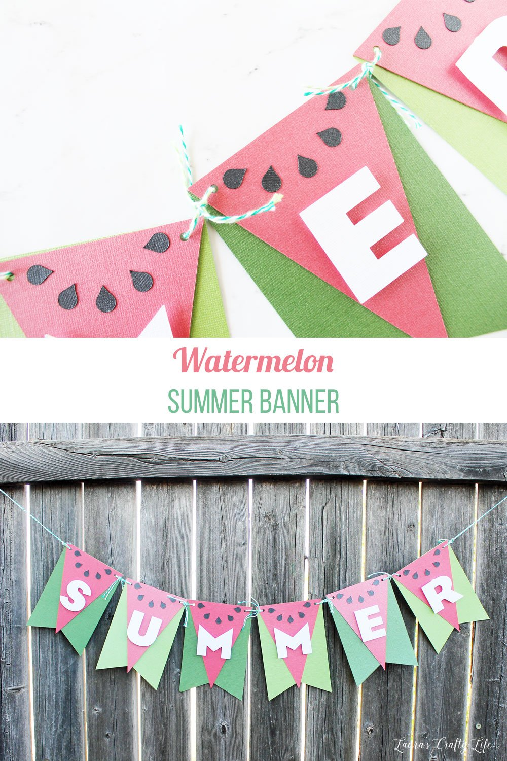 Watermelon Summer Banner tutorial