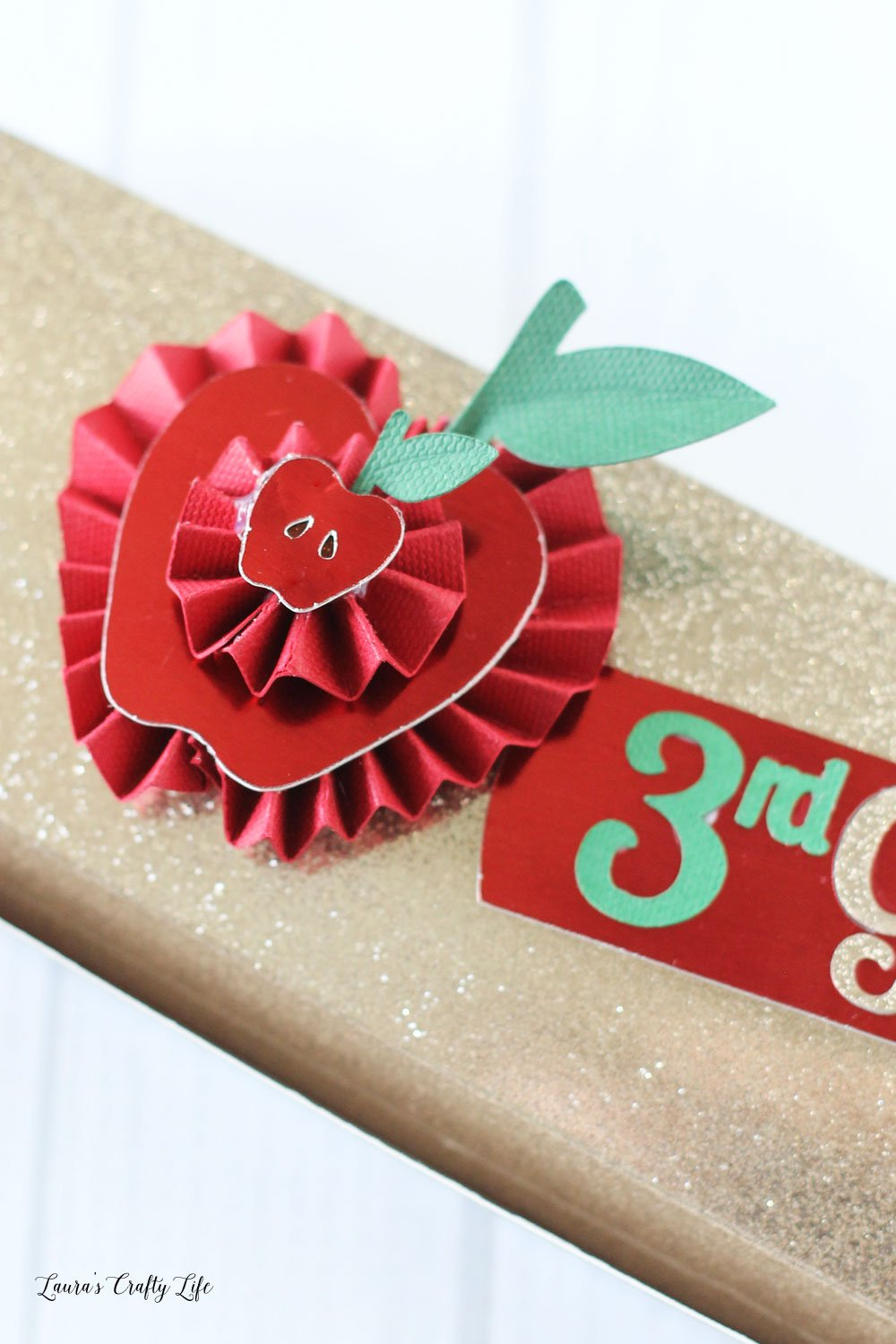 Apple rosette made with the Cricut Scoring Wheel