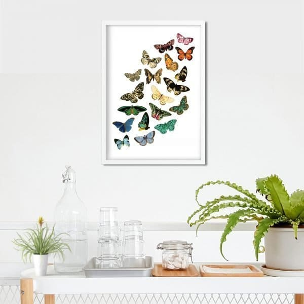 butterfly printable above desk