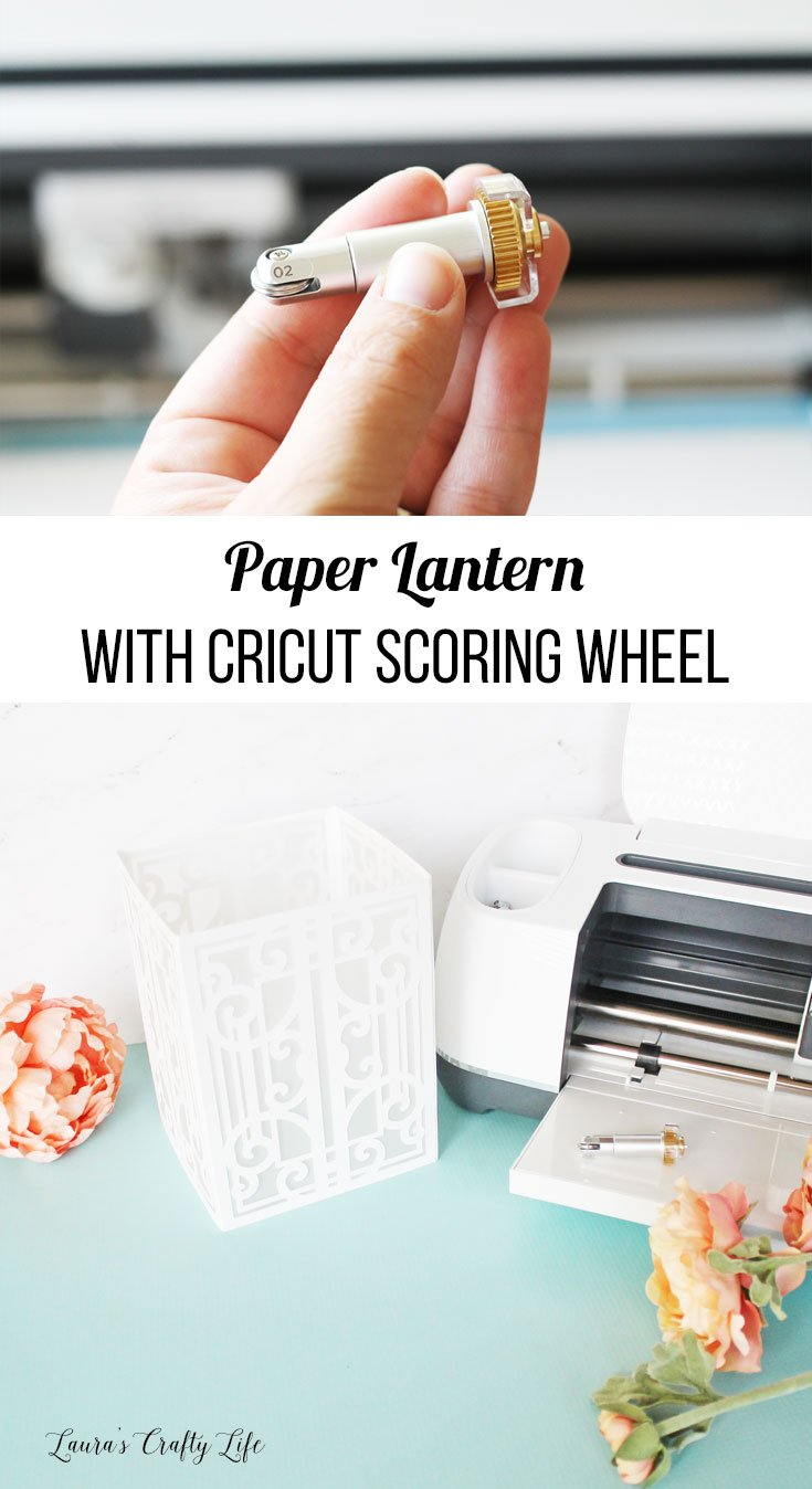 Create beautiful 3D kraft board lanterns using the Cricut double scoring wheel
