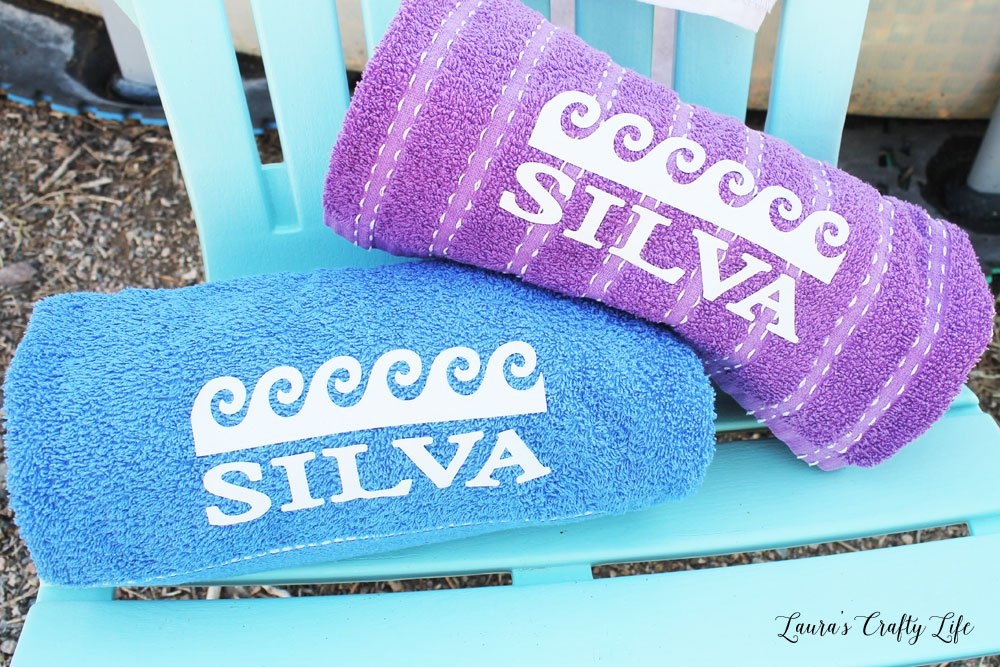 Customize beach towels with iron-on