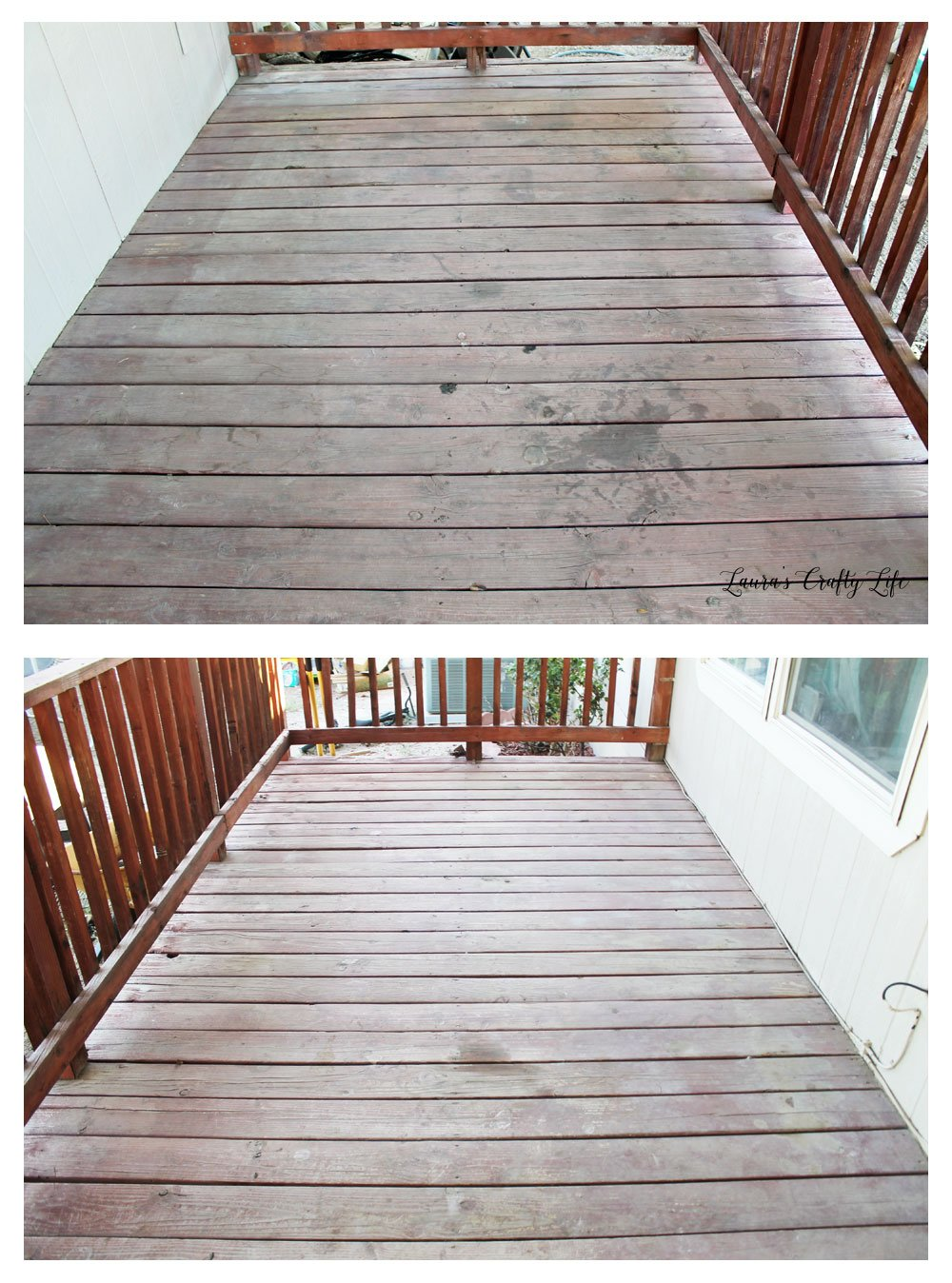 Deck before prep and stain