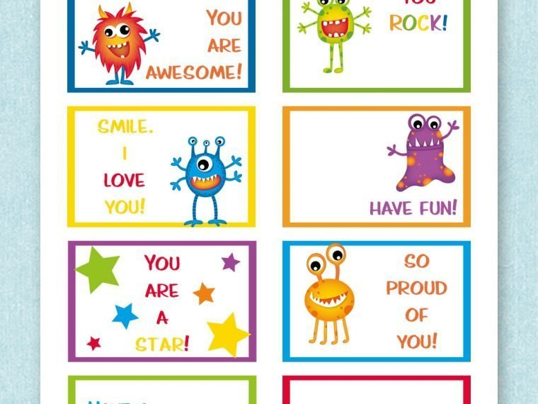 printable lunchbox notes lauras crafty life