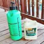 Supplies needed to clean deck