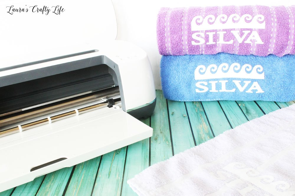 Use the Cricut Maker to personalize your beach towels