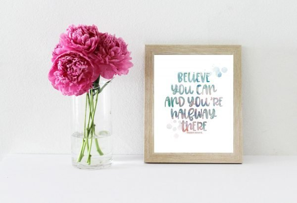 believe you can peony mockup