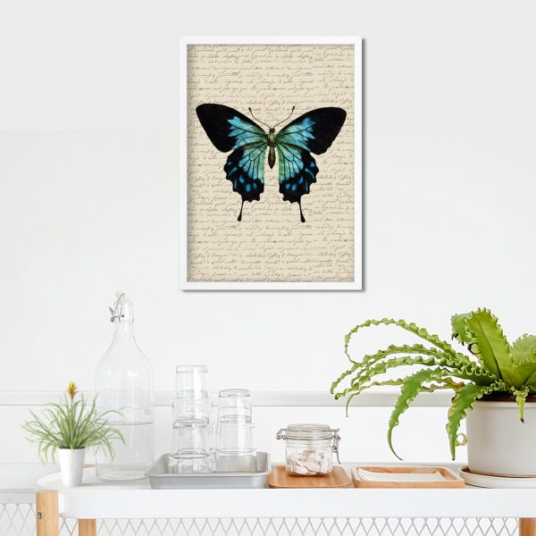 book page butterfly poster mockup