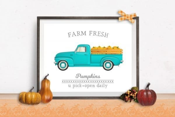 farm fresh pumpkins fall mockup