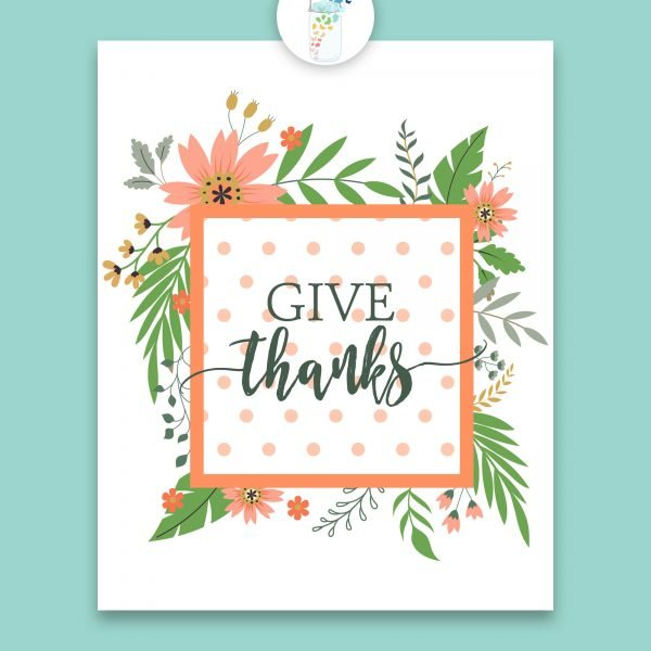 give thanks digital printable