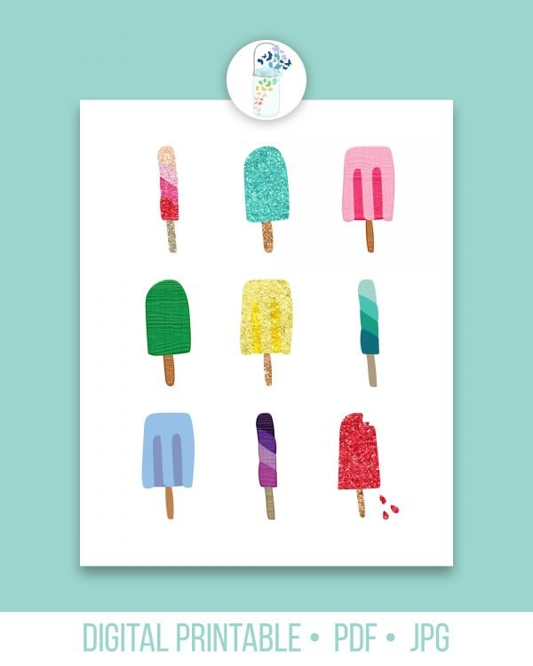 summer popsicles digital printable