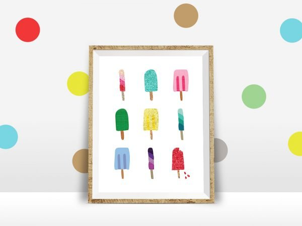 popsicle printable polka dot wall