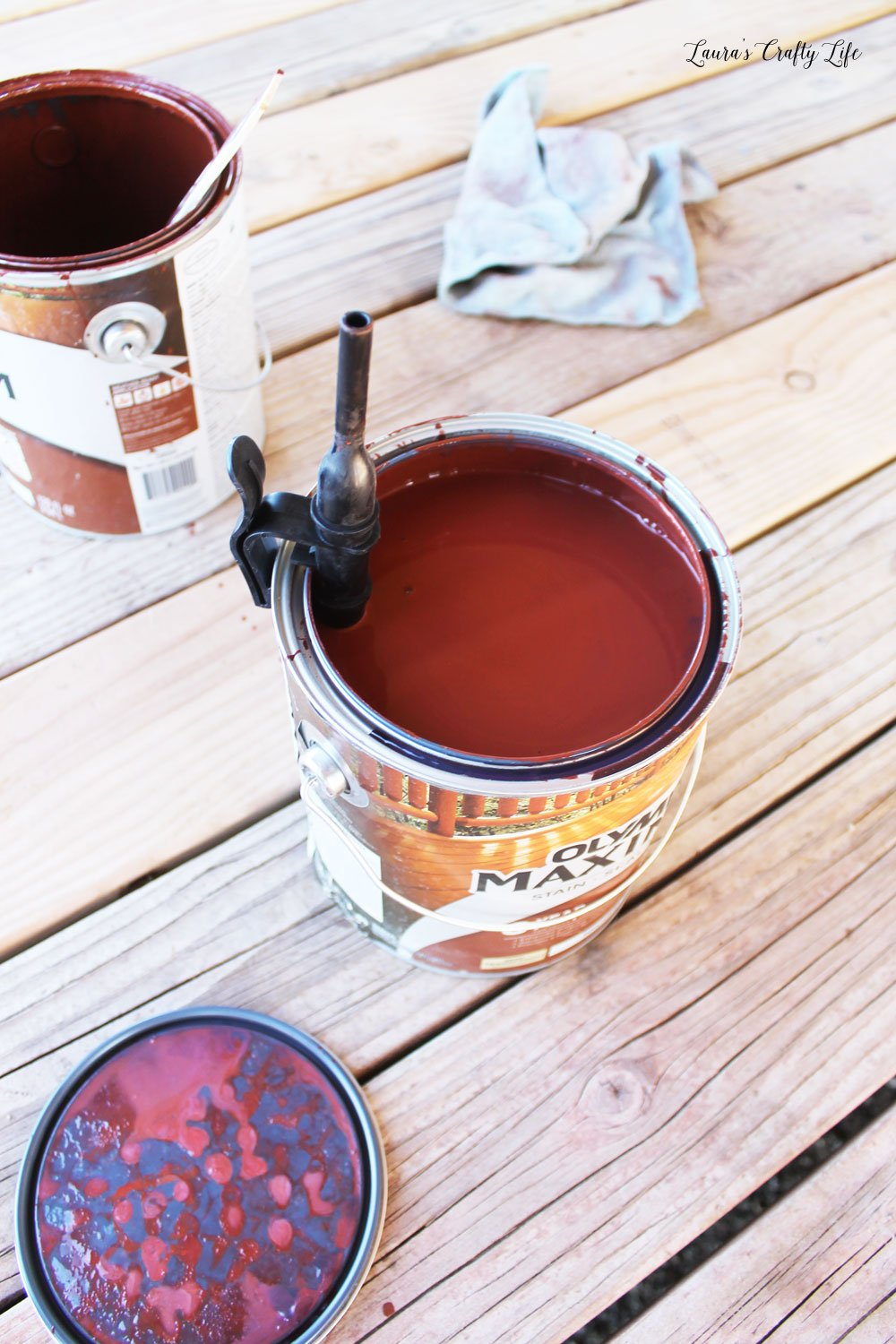 Attach fill tube to paint can