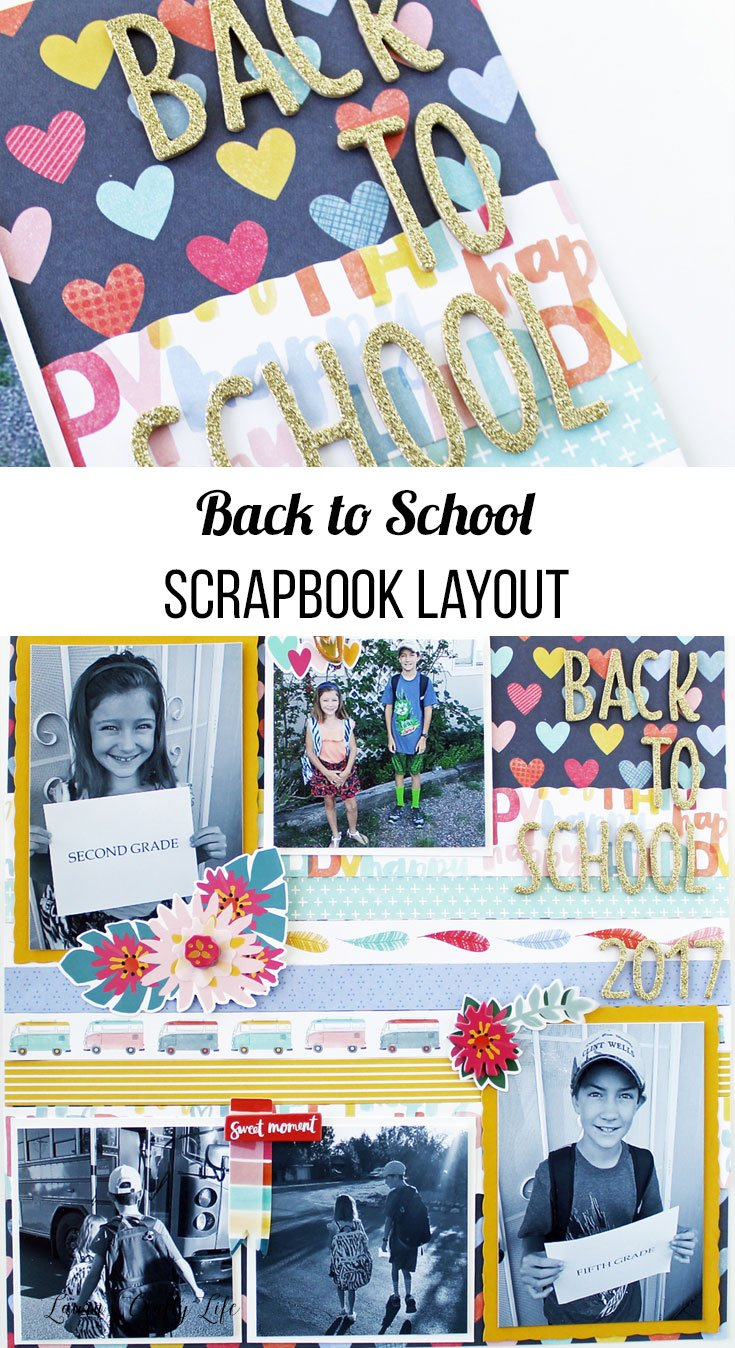 Back to school scrapbook layout idea
