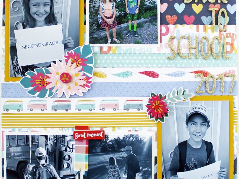 Back to school scrapbook layout