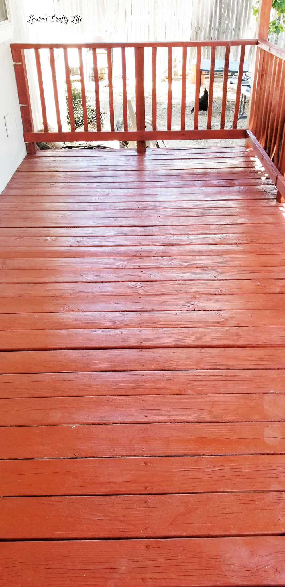Finished deck after stain