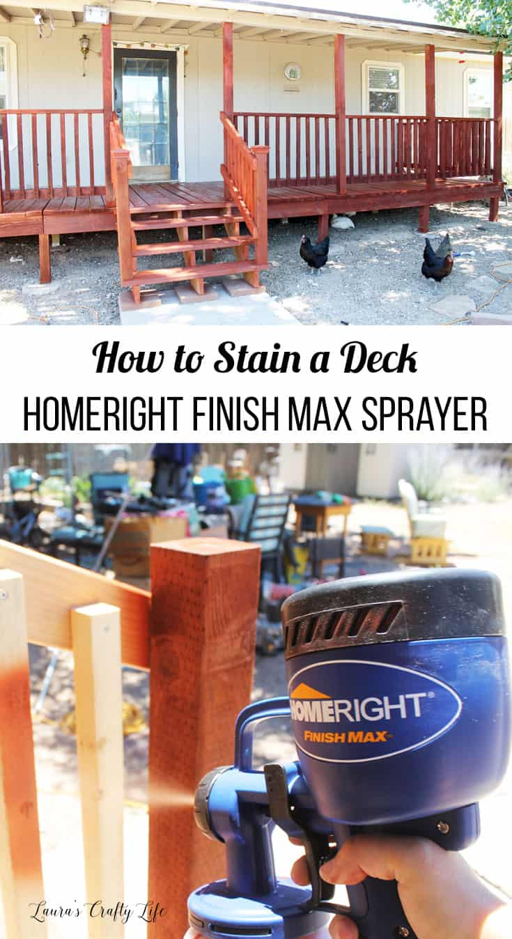 How to stain a deck using the HomeRight Finish Max Paint Sprayer to make the job faster and easier
